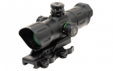 "Коллиматорный прицел Leapers UTG 6"" ITA Red/Green CQB Dot Sight With Offset QD Mount #SCP-TDSDQ"